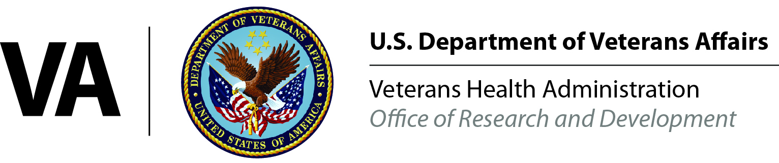 VA research and development logo