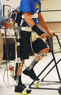 Exoskeleton in use